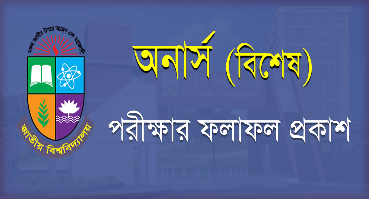 Honours 4th Year Special Result 2020